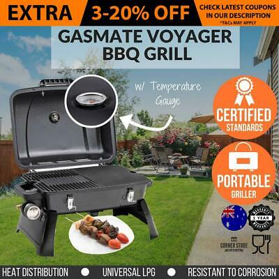 Portable Gas BBQ Grill Outdoor Barbecue Cooking Plate Camping Meat Griller Iron