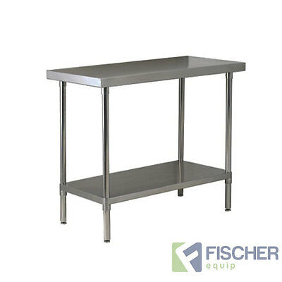 1220mm x 762mm NEW STAINLESS STEEL #430 GRADE KITCHEN BENCH -CATERING WORK TABLE