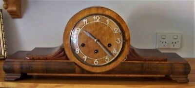 Vintage  Mantel Clock Westminster Chimes 8 Day Made In Germany 1950 By Junghans