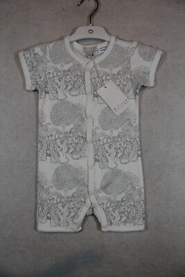 Baby Unisex Size 000,00,0 Wilson & Frenchy Summer Grey Print Romper NWT