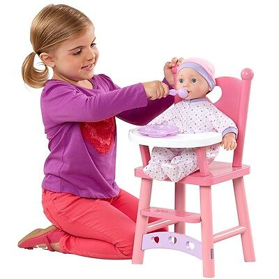 You & Me Doll's Highchair, Childrens Doll High Chair