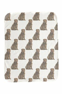 NEW Baby Dog Sharpei Repeat Baby Blanket Baby