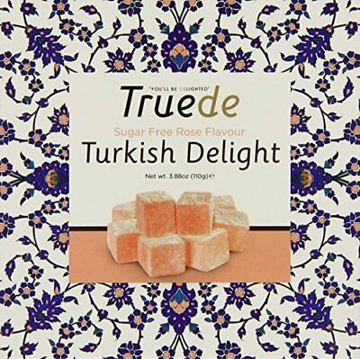 Truede Sugar Free Rose Flavoured Turkish Delight 100 g  Pack of 2