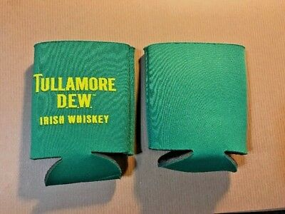 **New** 2 Tullamore Dew Irish Whiskey Koozies, Green, Great For Cans, St. Pat's!
