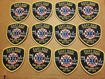 Lot of 12 NEW Saline County East End Volunteer Fire Department Patch Arkansas