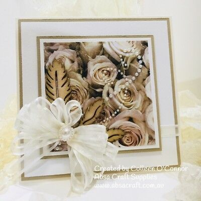 Handmade Card Blue Bay Roses