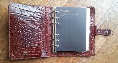 Mulberry organiser cuir leather congo snake brown, agenda vintage 1998