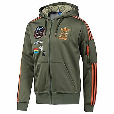Adidas Star Wars Rebel Luke Skywalker Force Stormtrooper Hoodie Track Top Jacket