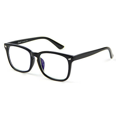 Cyxus Blue Light Blocking UV Computer Glasses Anti Eye Strain Clear Lens Black