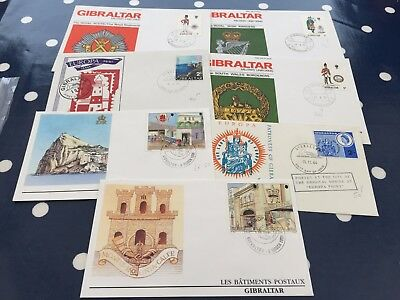 Gibraltar 7 FDC covers tidy lot