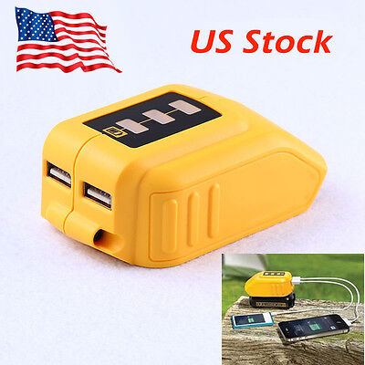 NEW USB CHARGING CONVERTER DCB090 ADAPTER CHARGER for DEWALT DCB205 184 BATTERY