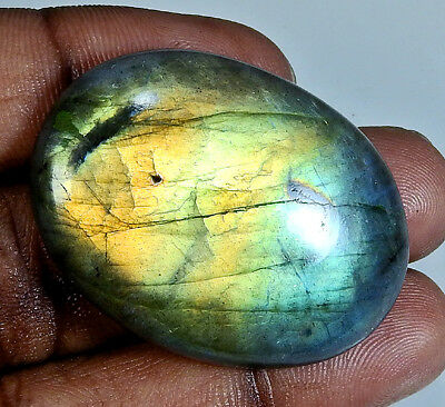 76.40Cts. Natural Alluring!! Multi Labradorites Multi Flash Oval Cabochon Gemst