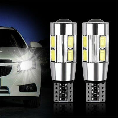 2 PCS Car Auto Canbus 10 LED T10 W5W 194 Standlicht Weiß Bulbs Lampen SMD 5630