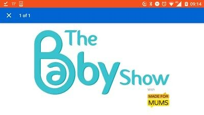 2 x Tickets to The Baby Show - London Olympia - Fri 20, Sat 21 or Sun 22 Oct
