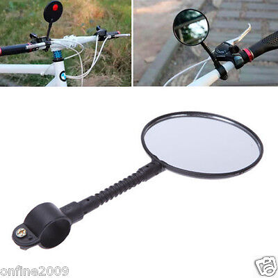 Flexible Bike Bicycle Handlebar Flexible Rear Back View Rearview Mirror Black