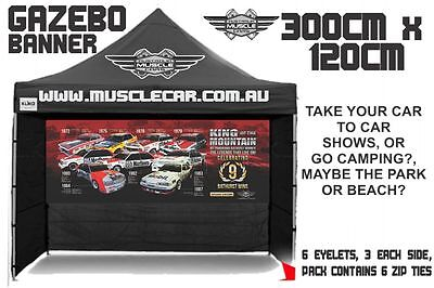 Musclecar King of the Mountain Celebrating Bathurst 9 Wins Gazebo banner / flag