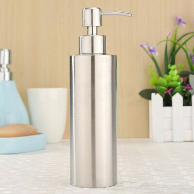 Stainless Soap Dispenser Liquid Foaming Jar Foamer Pump Shampoo Bottle Container