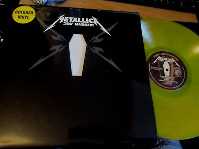 Double Lp Vinyl Record-Metallica-Deaf Magnetic-Yellow Vinyl-Mint/unplayed