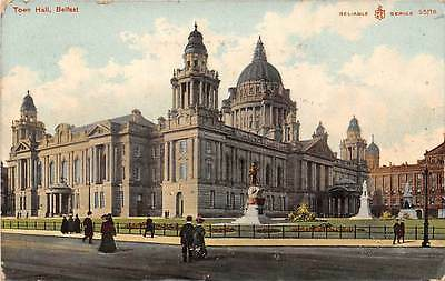 Belfast Town Hall animated scene, street