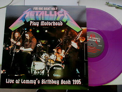 Lp Vinyl Record-Metallica-Play Motorhead-Purple Wax-Limited-Mint/unplayed