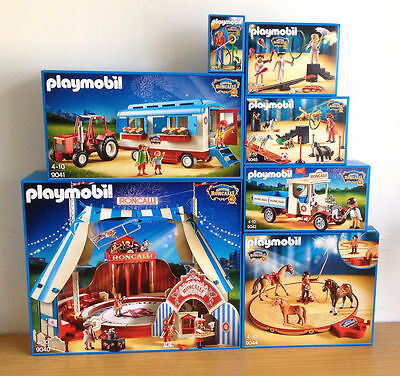 Playmobil Circus Roncalli  Complett Set Of  9040 9041 9042 9044 9045 9047 9048