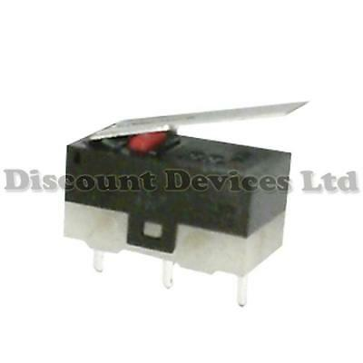 Miniature Microswitch 1Circuit 1A 125V on-on Long Lever