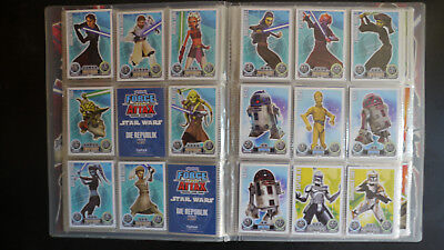 star wars force attax Serie 1 Star Karten blau 2010