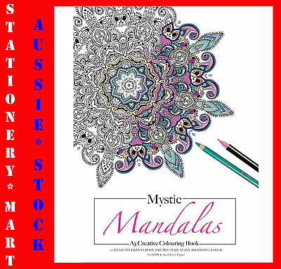 A4 Creative Colouring Book◉MYSTIC MANDALAS◉Adult◉180GSM◉ACID FREE Paper◉12 PAGES