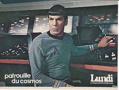 "Leonard Nimoy ""Spock"" Poster Le Lundi French Magazine April 7th 1979 8"" x 11"""