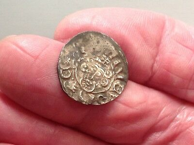 Silver Hammered Short Cross Penny.