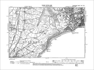 Sidmouth (E), Salcombe Regis, Old Map Devon 1906: 94NW