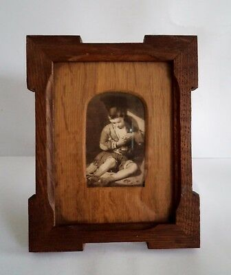 Early 20th century Edwardian Art Deco wood picture frame