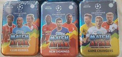 Topps Champions League Match Attax 2018 Limited Mega Tin X3 Changer Hero Signing