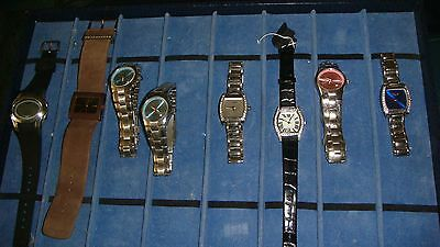 /trade Only Job Lot Of 8 X  Mixed Names  Watches 100% Gen <<<///,