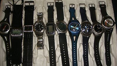 /trade Only Job Lot Of 10 X  Mixed Names  Watches 100% Gen <<<//,