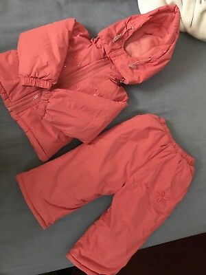 Girl Two Piece Snow Suit 9-12 Months