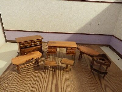 doll house furniture 7 x vintage furniture  1.12th