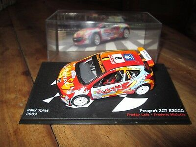 voiture 1:43 rallye - Peugeot 207 S2000 - Rally Ypres 2009 - altaya