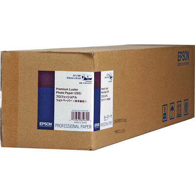 "Epson S042077 Premium Luster Photo Paper - 10"" x 100' Sized Roll"