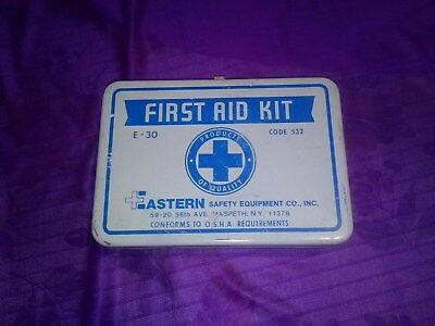 Vintage First Aid Kit  Eastern Safety Equipment Co.