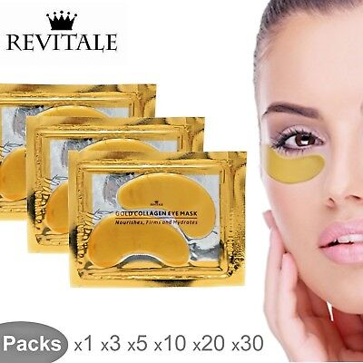 Revitale Collagen 24k Gold Under Eye Gel Mask - Anti Ageing Wrinkle Bag Remover