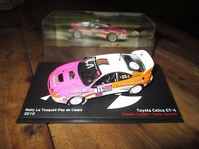 voiture 1:43 rallye - Toyota Celica GT-4 - Rally le Touquet 2010 - altaya