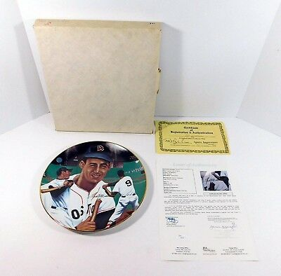 Ted Williams Signed Sports Impressions Collectors Plate Auto - JSA Certified -