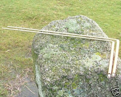 BRONZE DOWSING RODS.With the conductivity of  copper swivel handles.