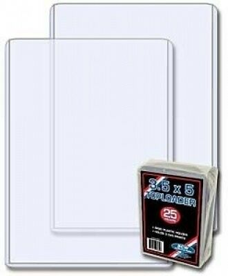 (25) BCW Brand 3.5 X 5 - Topload Holder (baseball trading cards, index cards