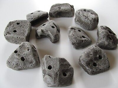 10 Large Screw on Climbing Holds With 10 Free Foot Jibs. Free Shipping