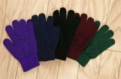 Adults Horse Riding Gloves in PURPLE - Magic Stretch. Shipping is Free