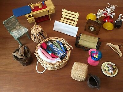 Job Lot of Vintage  Dolls House  Accessories for any room