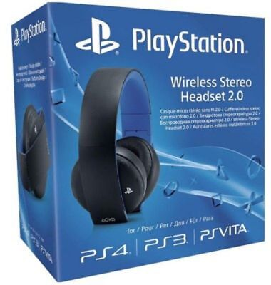 Sony Wireless Headset 2.0 Black for PS3 | PS4 | PSVITA | PC