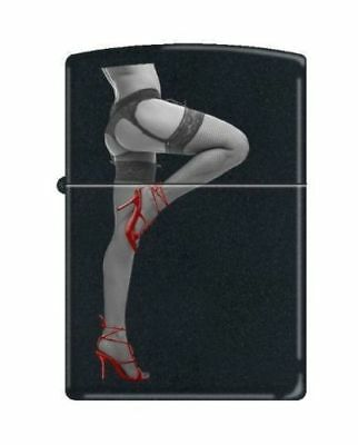 """New Pin Up Girl Zippo Lighter Sexy Red Shoe Low View -Titled """"strip Tease"""""""